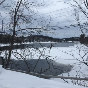 View from the other side of the Wakefield Covered Bridge